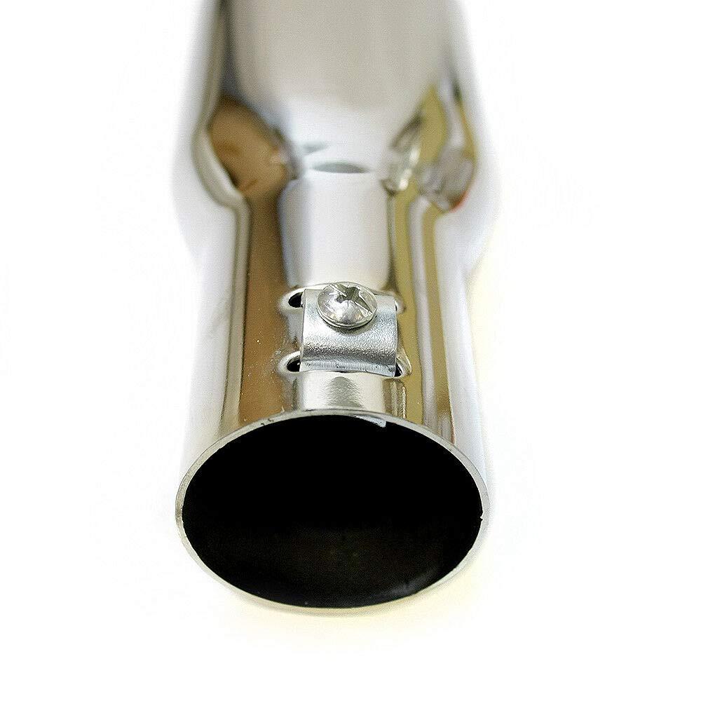 Autohobby 412A Embout d/échappement universel en acier inoxydable pour tuyau d/échappement jusqu/à 40 mm /Ø A B C G D H J CC 3 4 5 6 7 Chrom/é