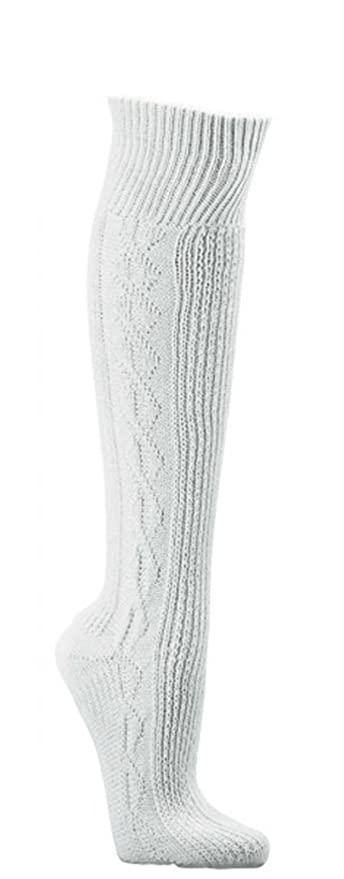 Hombre Traje Regional Medias Pantalones de la Rodilla Medias Uni de Color Blanco Estampado, Trachten de Mode CH de 686
