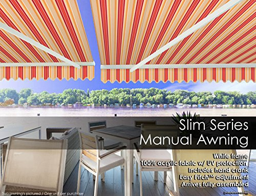 Garden and Outdoor ADVANING MA1210-A063N S Series, Premium Quality Retractable Patio Awning, 100% Solution-Dyed UV80+ Sun Shade Easy UV… patio awnings