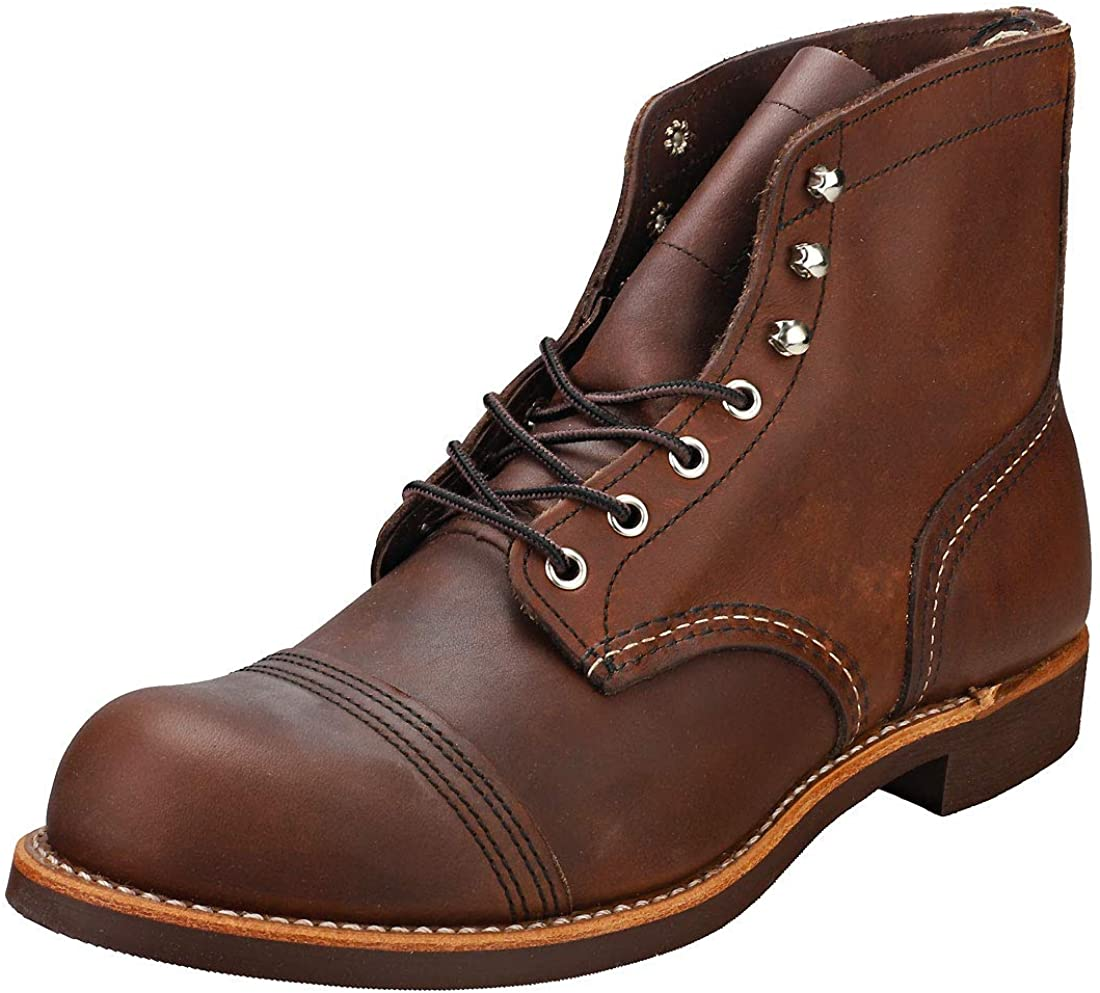 1930s Men's Fashion Guide- What Did Men Wear? Red Wing Mens Iron Ranger 6 Boot $281.31 AT vintagedancer.com