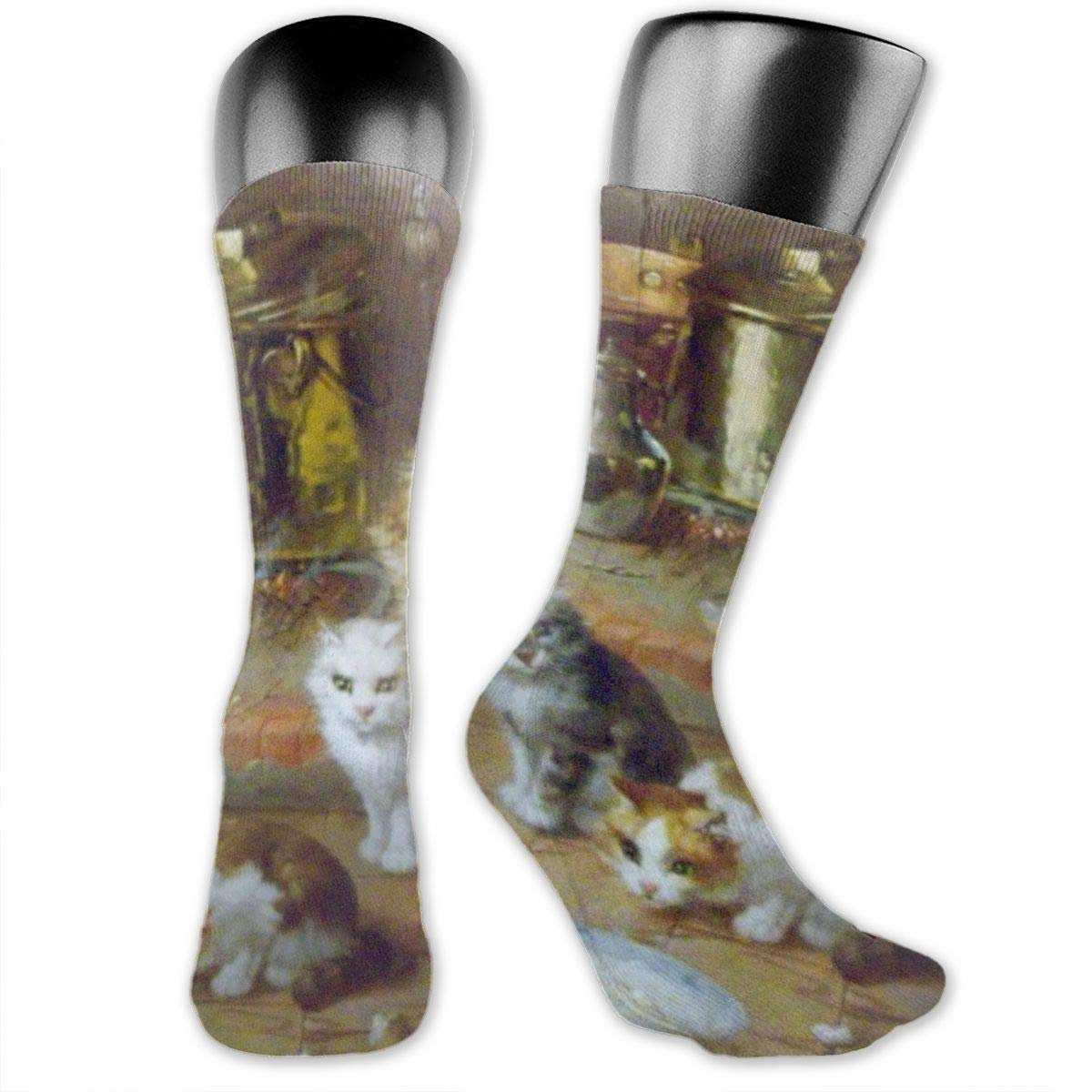 OLGCZM Cat Paintings Men Womens Thin High Ankle Casual Socks Fit Outdoor Hiking Trail