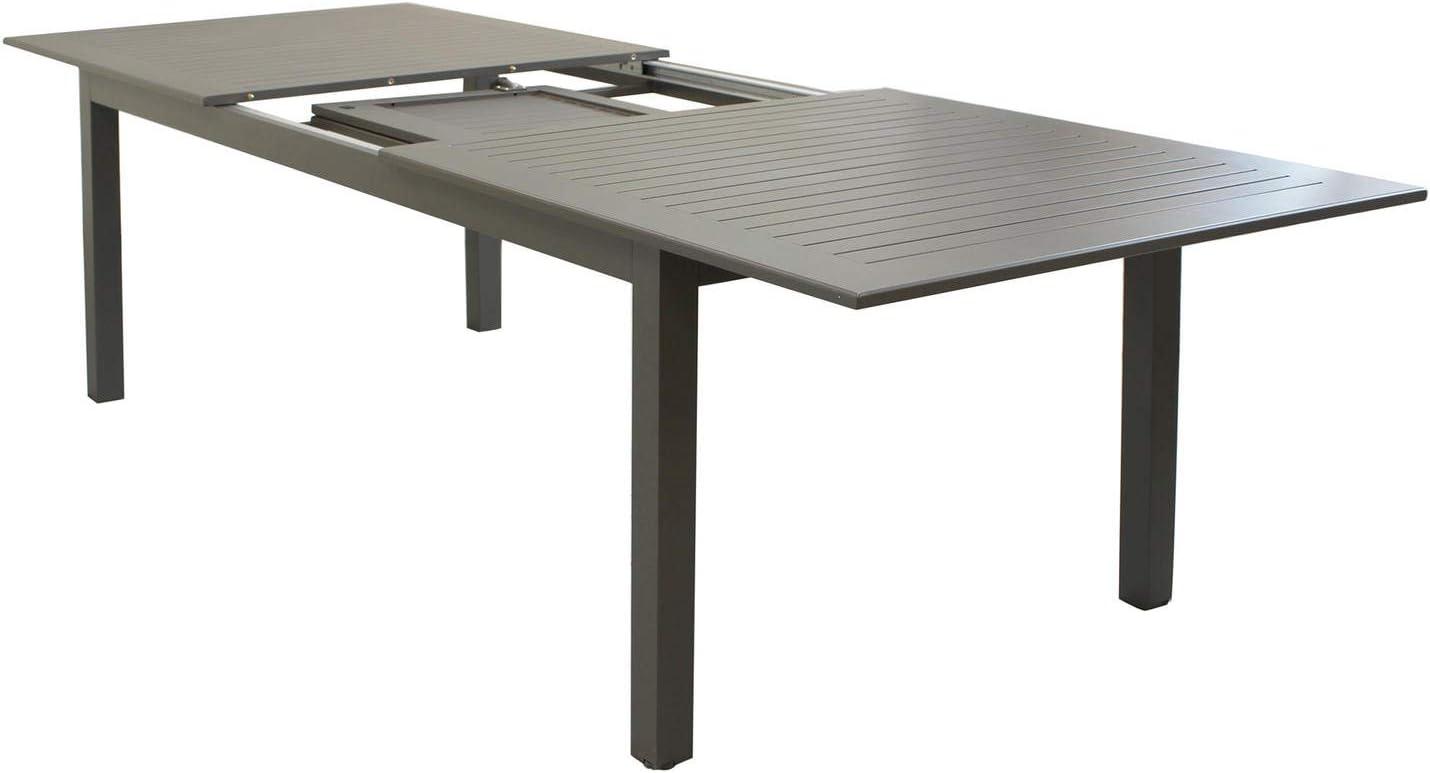 Cuba mesa extensible 220/280 x 100 de aluminio para muebles jardín ...