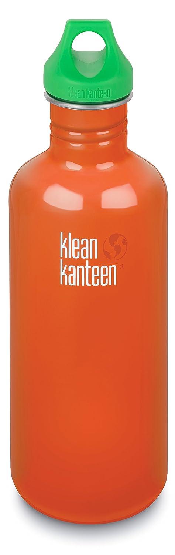 Klean Kanteen 40 oz Stainless Steel Water Bottle with Loop Cap in Green