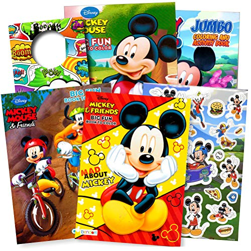 Bendon Publishing Mickey Mouse Coloring Books Stickers (Mickey Mouse 4-Pack)