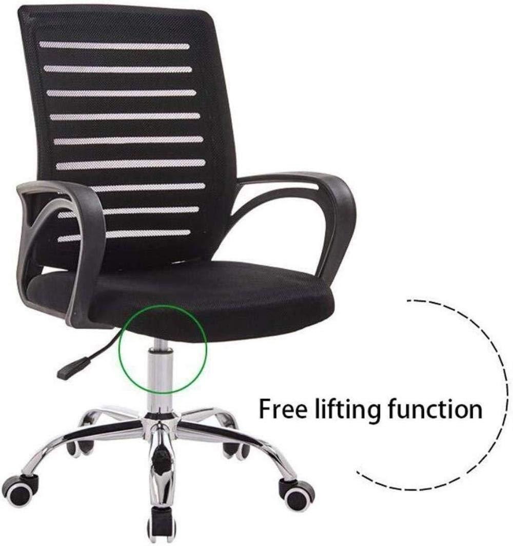 Barstolar Xiuyun svängbar stol – dator kontor stol spelstol, lyft mobilstol ergonomisk nät lyftstol konferensstol student sovsal stol personalstol (färg: Brun) Svart