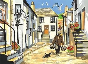 Reeves - Pintar por Números - Set de pintura grande, diseño de pueblo pesquero