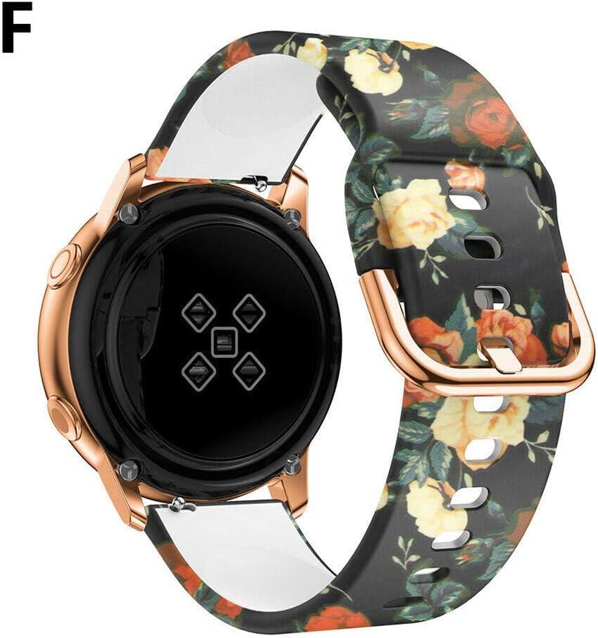 para Watch Active 42mm Correa de Reloj Correa de Silicona 20mm, Gear Sport Smart Watch