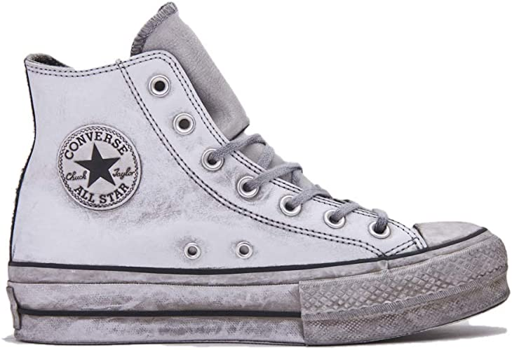 Converse 562909C CTAS Lift LTHR LTD Hi White Smoke in