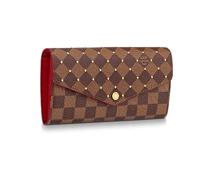68d139e6f45f Louis Vuitton Damier Ebene Canvas Sarah Wallet N60123 Limited Edition   Amazon.co.uk  Clothing