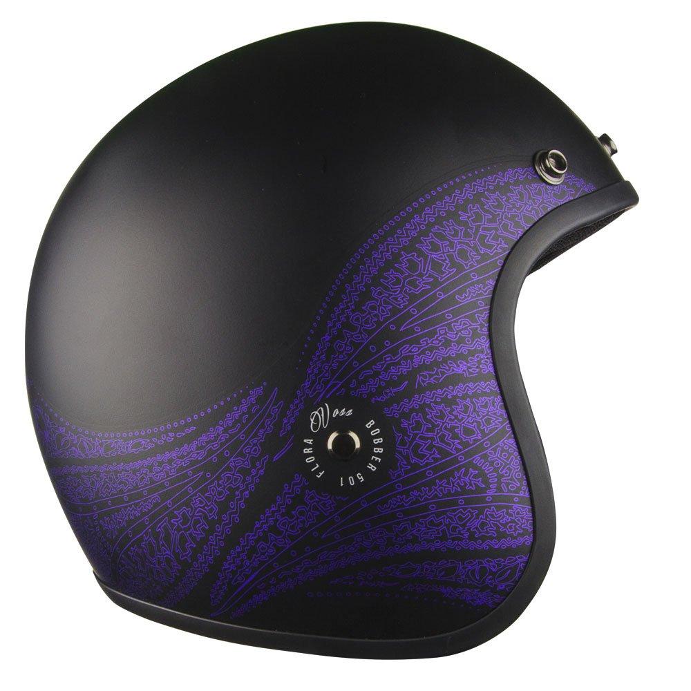 Amazon Com Voss 501 Bobber Open Face Retro Womens Motorcycle Helmet