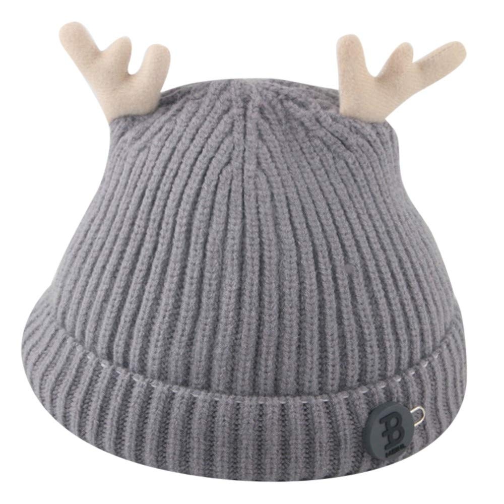 Amazon.com  Inkach Baby Winter Warm Knit Hat - Cute Deer Ears Crochet  Slouchy Beanie Cap Christmas Hats (Gray)  Garden   Outdoor 4305cefdd71