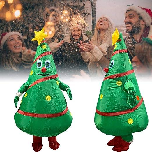Beesuya - Disfraz inflable de árbol de Navidad con diseño de ...