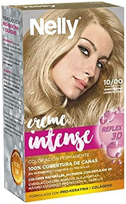 Nelly Set Tinte 10/00 Rubio Platino - 50 ml: Amazon.es: Belleza