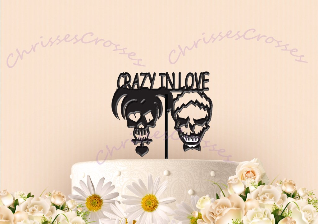 Joker and Harley Crazy In Love Cake Topper