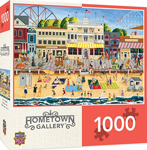 MasterPieces Hometown Gallery Jigsaw Puzzle, On The Boardwalk, Featuring Art by Linda Nelson Stocks, 1000 Pieces