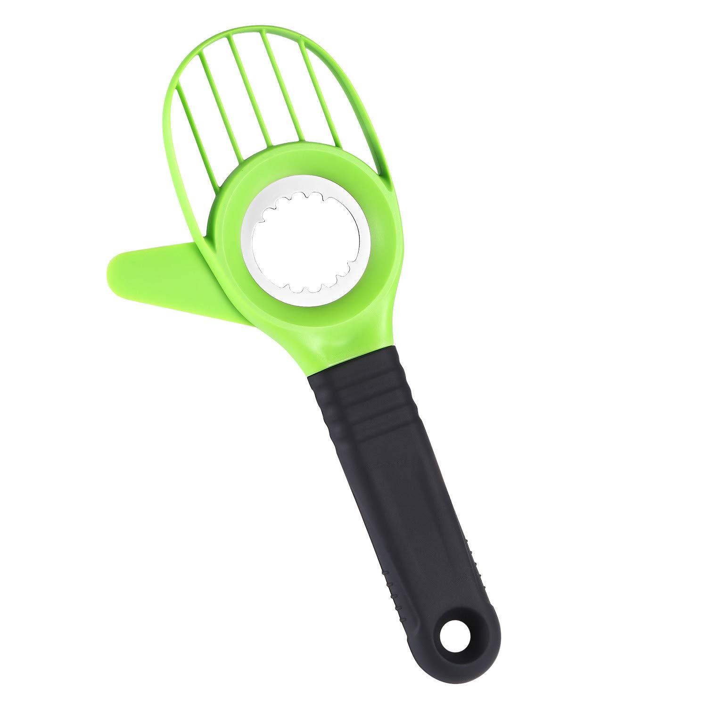 Byme 3 in 1 Avocado Slicer Multifunctional Cutter Corer Tools with Comfort-Grip Handle Fruit Peelers for Avocado,Kiwi,Dragon Fruit etc.