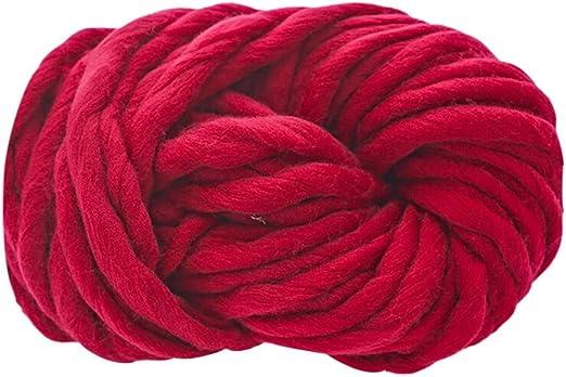 Wuayi - Ovillo de Lana, Lana Gruesa de algodón para Tejer ...