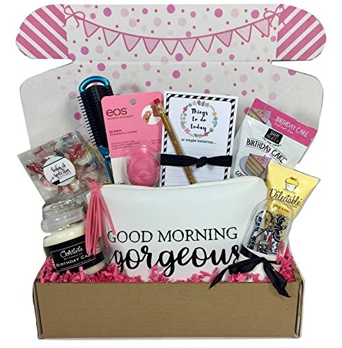 Complete Birthday Gift Basket Box for Her-Women, Mom, Aunt, Sister or Friend, Unique! (Best Birthday Gift Baskets)