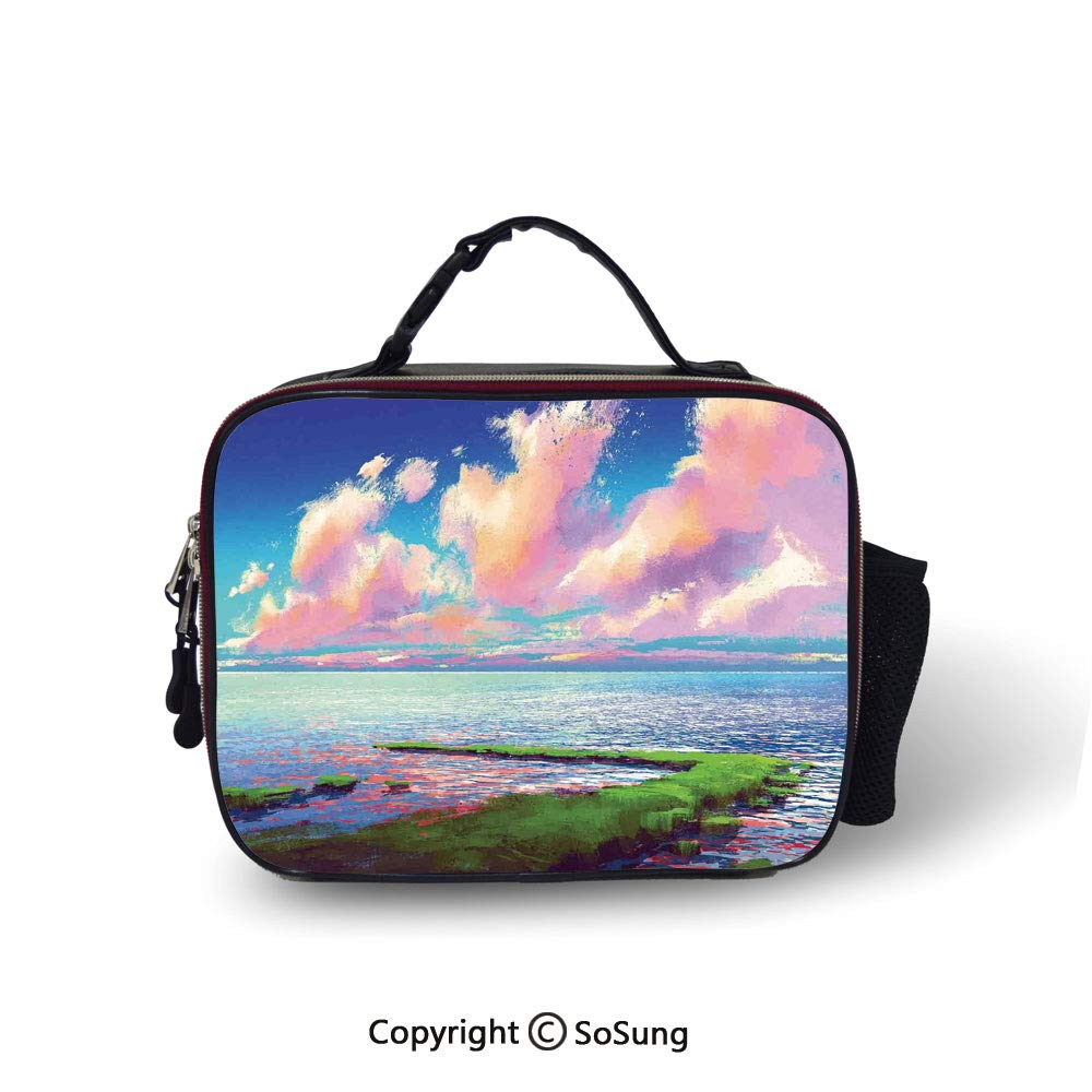 Amazon com: Landscape Insulated Lunch Bag Sea After Mossy