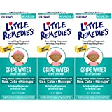 Little Remedies Gripe Water   Herbal Supplement   4 oz.   Pack of 3   Gently Relieves Stomach Discomfort from Gas, Colic, and Hiccups   Safe for Newborns