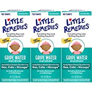 Little Remedies Gripe Water | Herbal Supplement | 4 oz. | Pack of 3 | Gently Relieves Stomach Discomfort from Gas, Colic, and Hiccups | Safe for Newborns