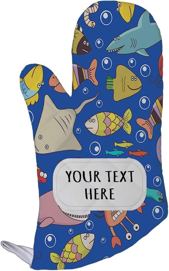 Style In Print Polyester Oven Mitt Custom Underwater Wildlife Fish Pattern C Adults Kitchen Mittens