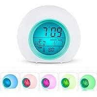 Hangang Despertador digital alarma reloj digital lámpara