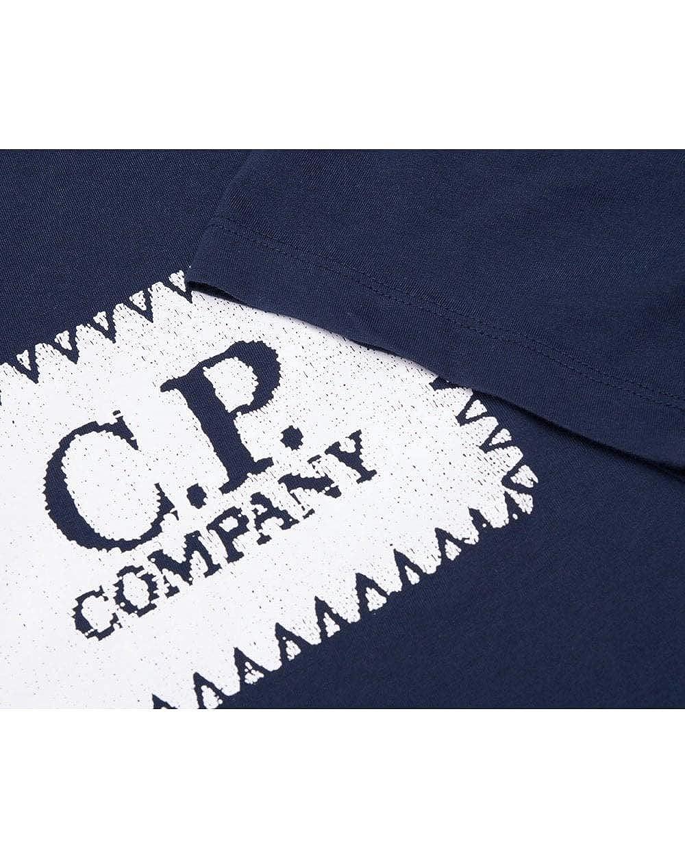 CP Company Box Logo T Shirt in Navy