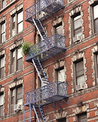 Amazon.com: New York Decor, New York City Red Brick Apartment ...