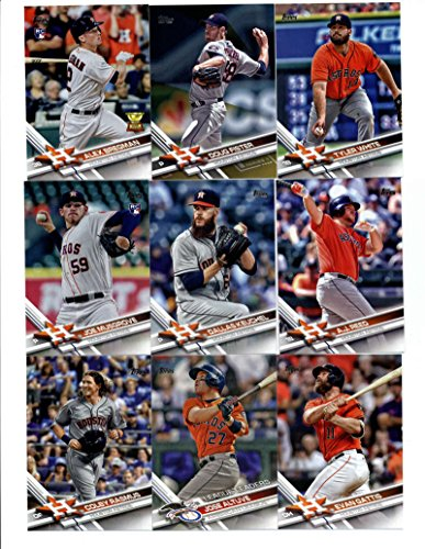 Hernandez Autographed Jersey - 2017 Topps Houston Astros Complete Team Set of 38 Cards: Lance McCullers(#16), Teoscar Hernandez(#67), Carlos Correa(#75), Evan Gattis(#160), Houston Astros(#175), Colby Rasmus(#196), Jose Altuve(#214), Joe Musgrove(#219), Pat Neshek(#272), A.J. Reed(#273), Dallas Keuchel(#275), Tyler White(#285), Yulieski Gurriel(#299), Doug Fister(#330), Alex Bregman(#341), George Springer(#389), Mike Fiers(#496), Tony Kemp(#513), Jake Marisnick(#526), Marwin Gonzalez(#563), Collin McHugh(#585), plus more