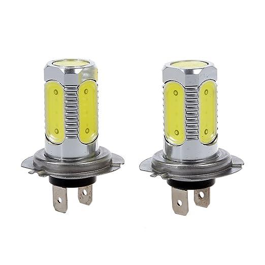4 opinioni per TOOGOO (R) 2 LAMPADE LUCI LED H7 5 COB BIANCO 7.5W PER RICAMBIO AUTO
