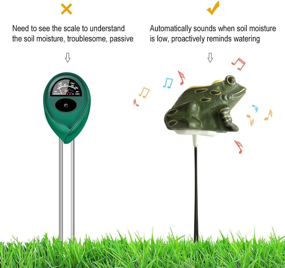 medidor de humedad del suelo de rana de resina Sensor de probador de humedad de la planta para jard/ín de bonsai interior Recordatorio de riego de la granja Donpow Sensor de humedad