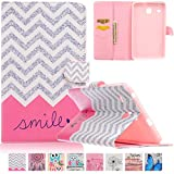 Galaxy Tab E 8.0 case-UUcovers(TM) Ultra Slim High-Quality Fashion Pattern Case Cover for Samsung Tab E 8.0-Inch SM-T377 Tablet (Smile)