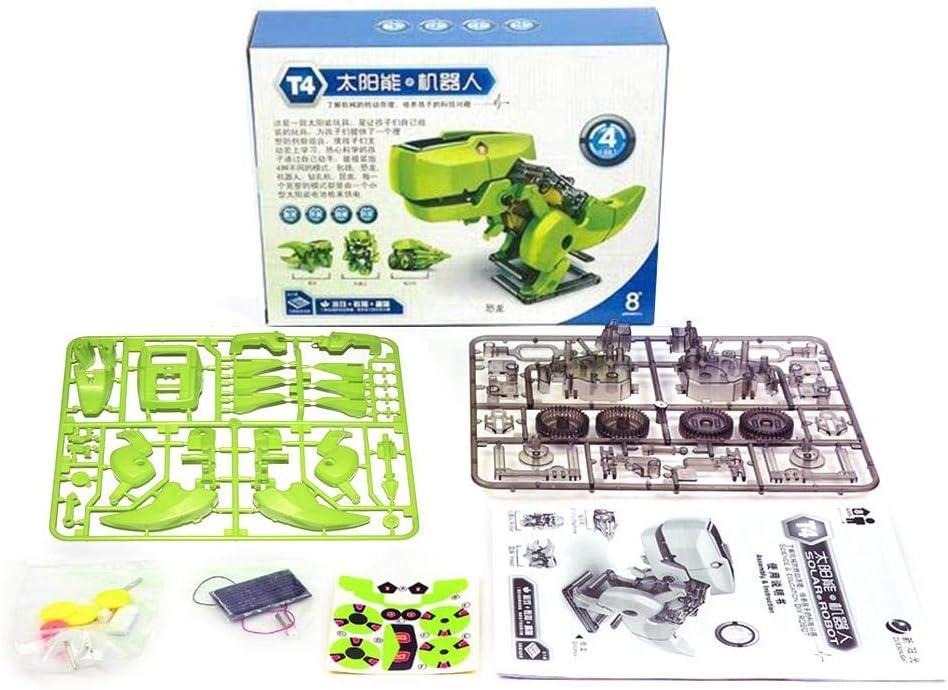 Robot de juguete para niños infantil Robot de juguete inteligente de DIY 4 en 1 solar Energía Robot Niños juguete dinosaurio insecto Taladro Deformación Robot panel solar Fuente de alimentación: Amazon.es: Bebé