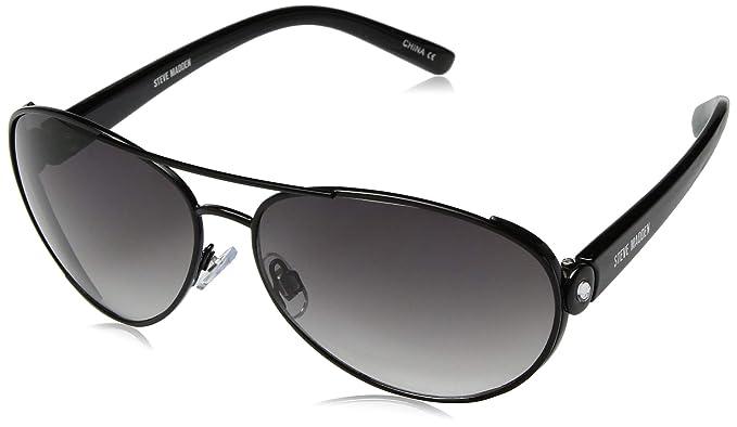 d8fd21b5d Amazon.com: Steve Madden Women's S5643 Aviator Sunglasses Black 61 ...