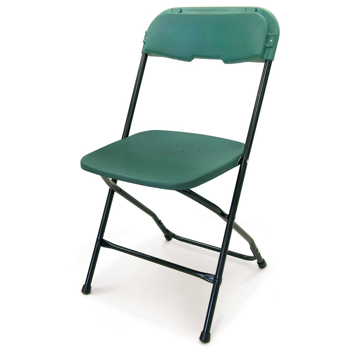 McCourt 21110 Series 5 Dining Height Stackable Folding Chair, Black Frame, Single, Green Seat/Back