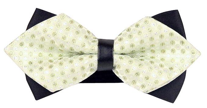 Panegy Bow Tie Hombres Pajarita Ajustable Jacquard Poliéster ...