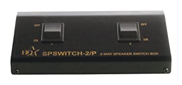 hq 2 way speaker control switch connect for 1 output to 2 pairs of speakers