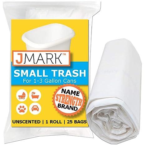 Amazon.com: J Mark Bolsas de basura pequeñas, extra fuertes ...