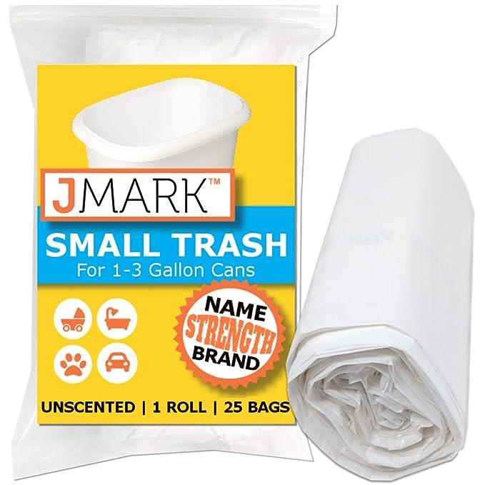 JMark - Bolsas de basura pequeñas y duraderas, para latas de ...