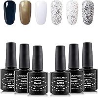 Lagunamoon Gel nagellak UV LED, keuze uit 6 kleuren van het bos van de sneeuw themaset, gel polish soak off 8 ml