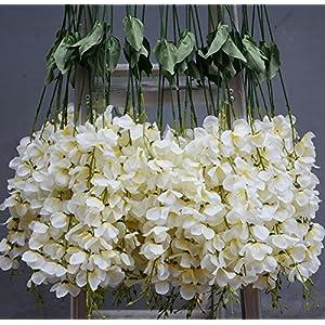Hlingo 50 pcs Artificial Flowers Bulk Fake Silk Wisterial Vine for Home and Weding Decorations 2