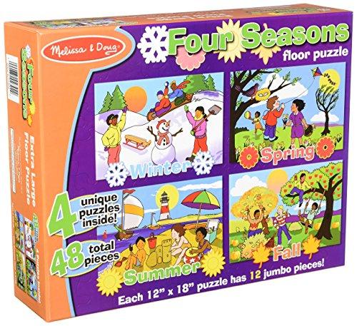 Seasons Puzzle Set - Melissa & Doug Seasons Floor Puzzle