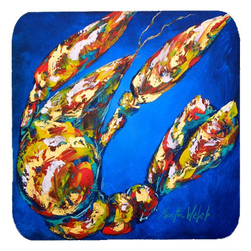 Carolines Treasures MW1019FC Crawfish Crawfish In Maryland Foam Coasters, Set Of 4   B00VGYINLC