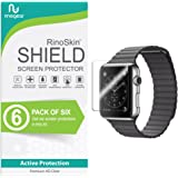 Apple Watch 42mm Screen Protector (Series 3 2 1, Compatible 'Short Fit' for 44mm Series 4) [6-Pack] RinoGear Case Friendly iWatch Screen Protector for Apple Watch Series 3 42mm Accessory Clear Film