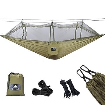 naturefun moustiquaire hamac ultra lger de voyage camping 300 kg capacit de charge - Hamac Exterieur