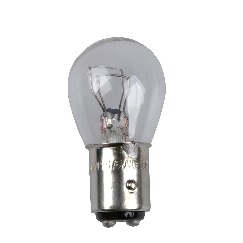 Unitec 77848 Feu stop ampoule de rechange P21, 5 W, 12 V, lumiè re jaune, Lot de 2 5W 12V lumière jaune