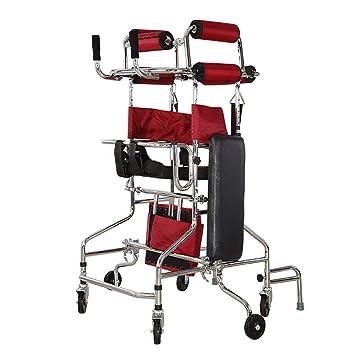 QETU Ancianos Walker, Entrenamiento Multifuncional para Extremidades Inferiores Andar Stand Stand Frame Walker para Adultos Hemiplejia Equipos De ...