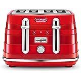 De'Longhi Avvolta, 4 Slice Toaster, CTA4003R, Red
