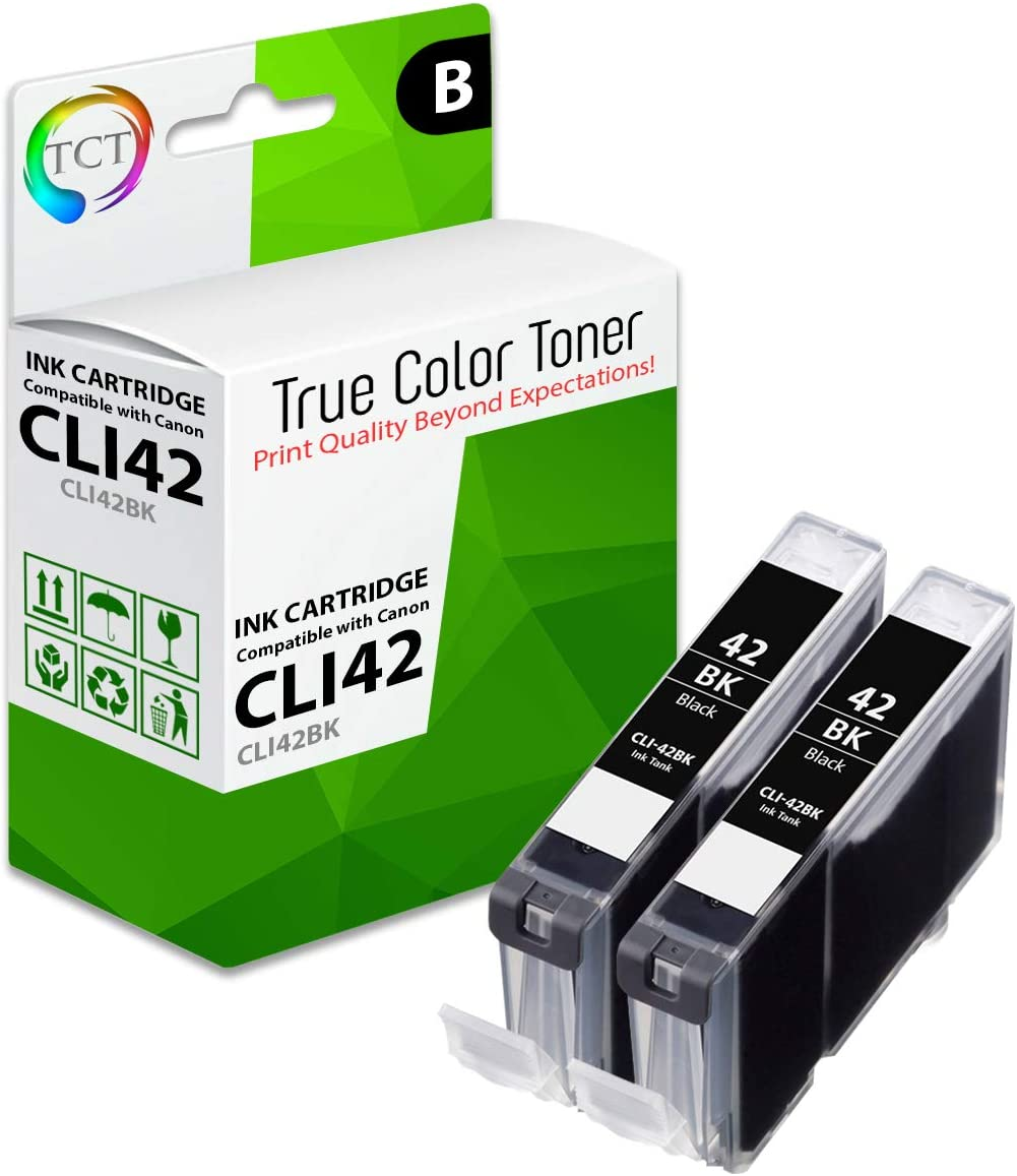 Smart Print Supplies Compatible CLI42 CLI42-BK Black Ink Cartridge Replacement for Canon Pixma PRO-100 Printers 4 Pack